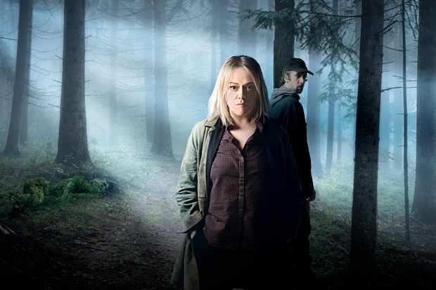Sian Reese-Williams and Rhodri Meilir in Hidden (BBC, EH)