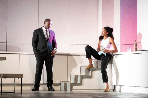 3176 Eric Kofi Abrefa as Jean and Thalissa Teixeira as Kristina in Julie at the National Theatre (c) Richard H Smith_preview
