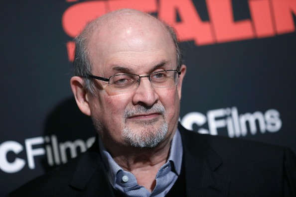 """NEW YORK, NY - MARCH 08:  Salman Rushdie  attends """"The Death Of Stalin"""" New York premiere at AMC Lincoln Square Theater on March 8, 2018 in New York City.  (Photo by John Lamparski/Getty Images)"""