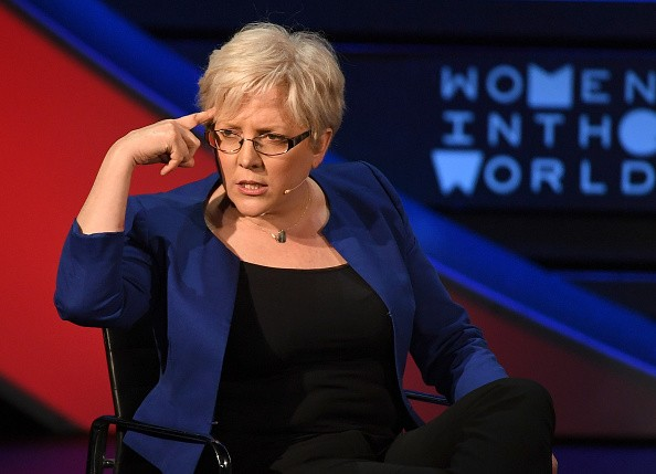 Former China Editor for the BBC, Carrie Gracie, speaks onstage at the Women of the World Summit on April 13, 2018 in New York City. / AFP PHOTO / ANGELA WEISS        (Photo credit should read ANGELA WEISS/AFP/Getty Images)