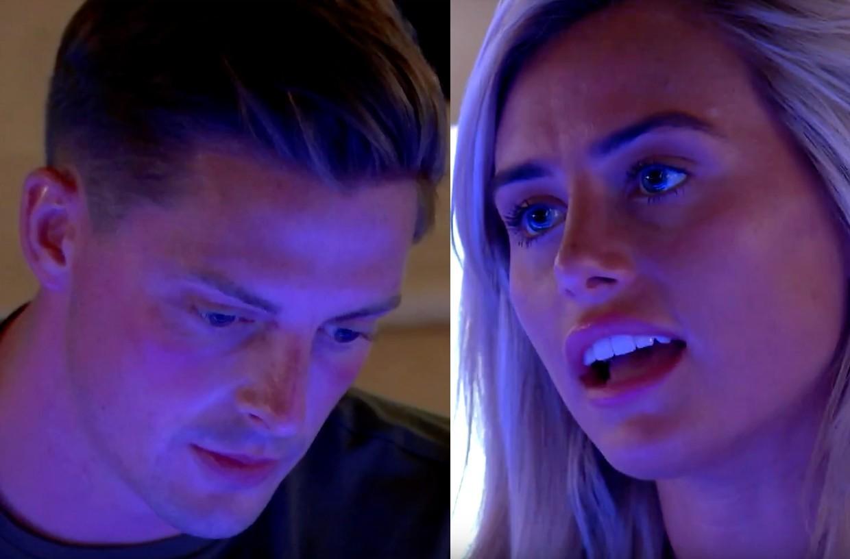 Alex and Ellie argue in Love Island