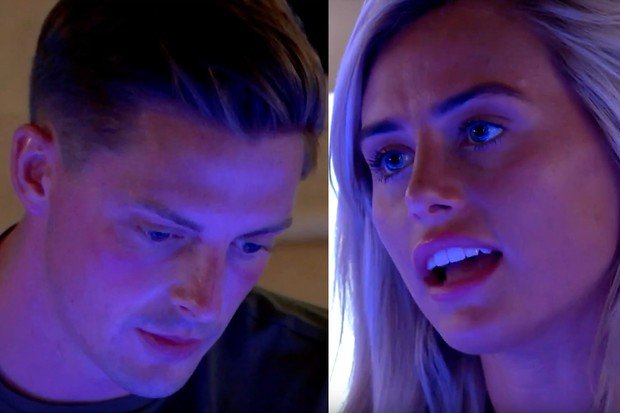 Alex and Ellie argue in Love Island