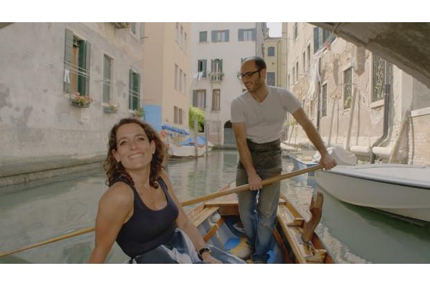 Exploring Venice on a gondola