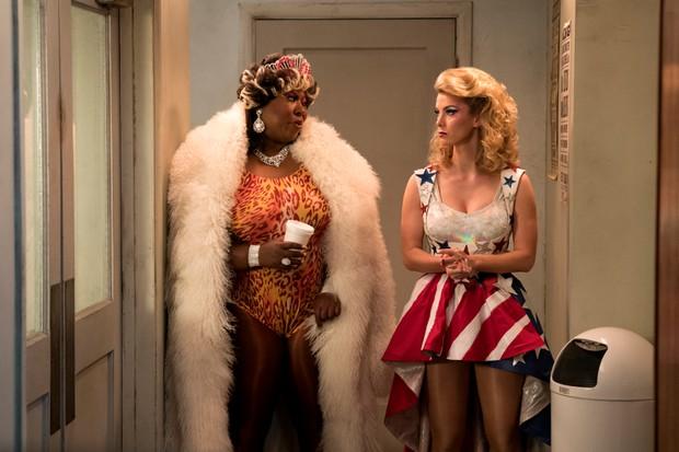 Kia Stevens and Betty Gilpin in GLOW season 2