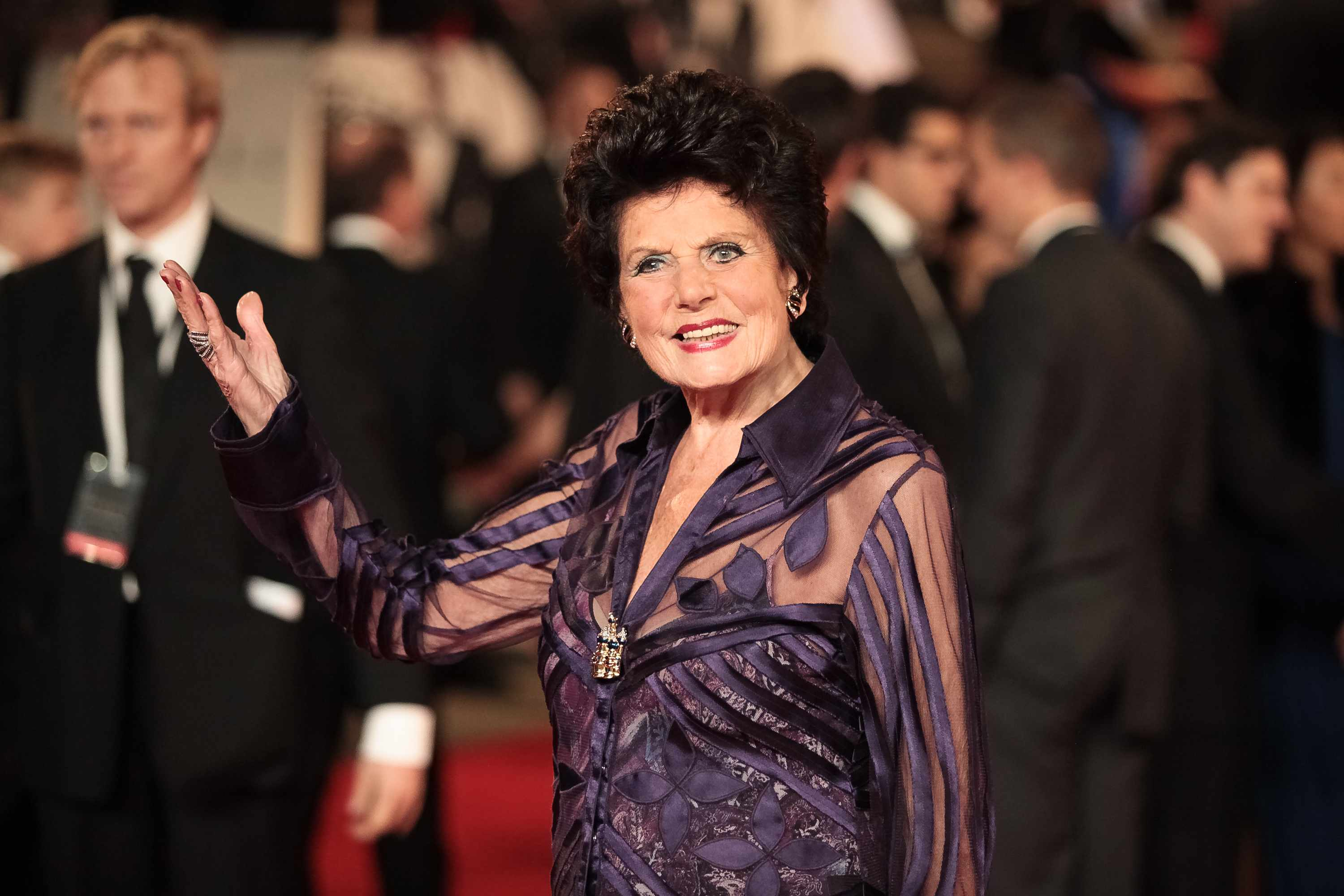 LONDON, UNITED KINGDOM - OCTOBER 23: Eunice Gayson attends the Royal World Premiere of 'Skyfall' at Royal Albert Hall on October 23, 2012 in London, England. (Photo by Christie Goodwin/WireImage)