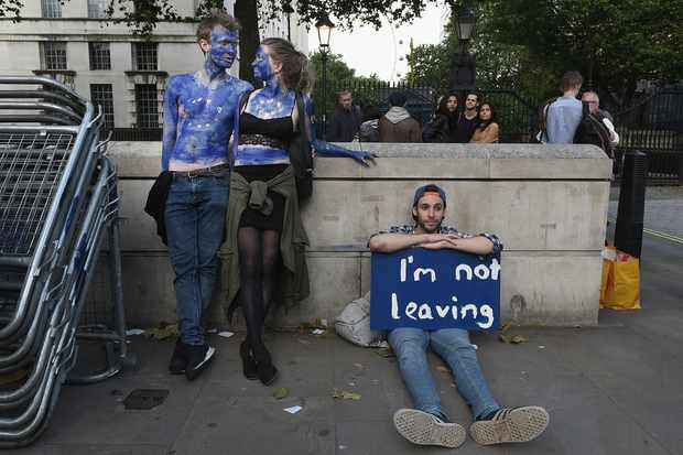 Protesters outside Downing Street the day after the referendum (Getty, EH)