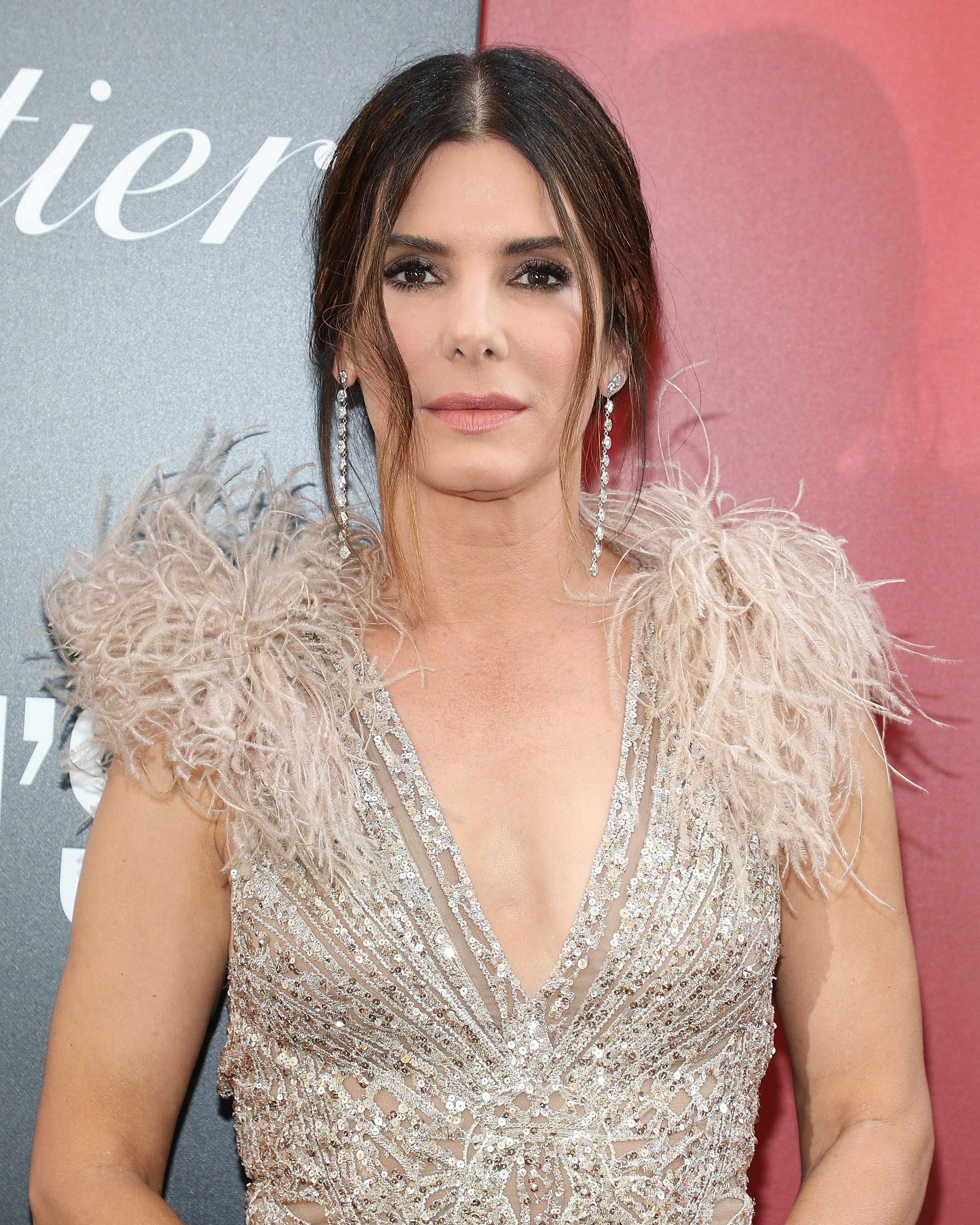 "NEW YORK, NY - JUNE 05:  Sandra Bullock attends the world premiere of ""Ocean's 8"" at Alice Tully Hall at Lincoln Center on June 5, 2018 in New York City.  (Photo by Taylor Hill/Getty Images)  Getty, TL"