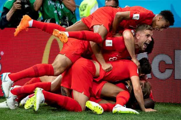 England World Cup 2018 celebration