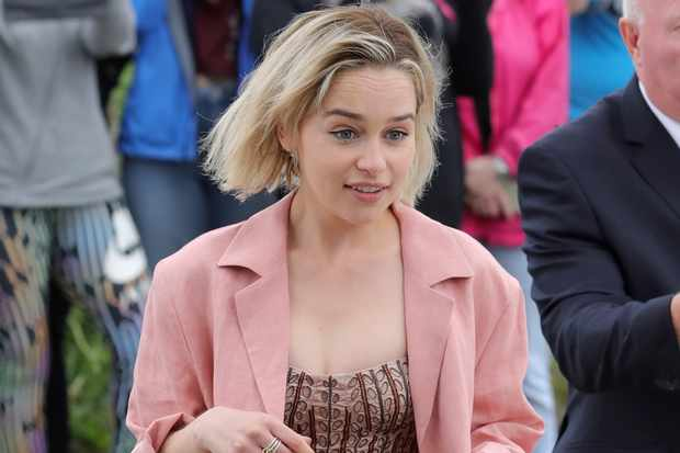 Emilia Clarke (who played Daenerys Targaryen in Game of Thrones) Getty, TL