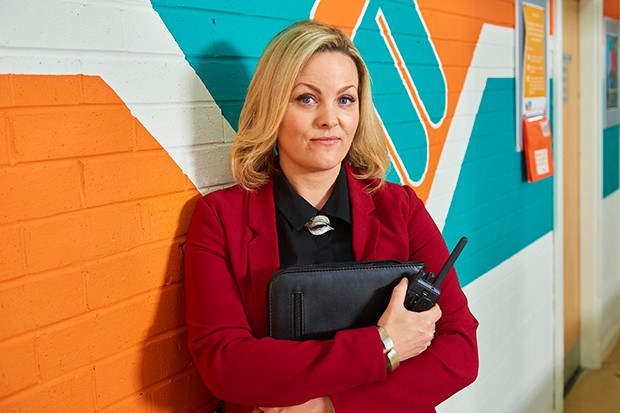 Jo Joyner plays headmistress Mandy Carter in Ackley Bridge