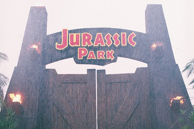 The iconic gates of Jurassic Park (Sky, Universal, HF)© 1993 Universal Studios - All Rights Reserved
