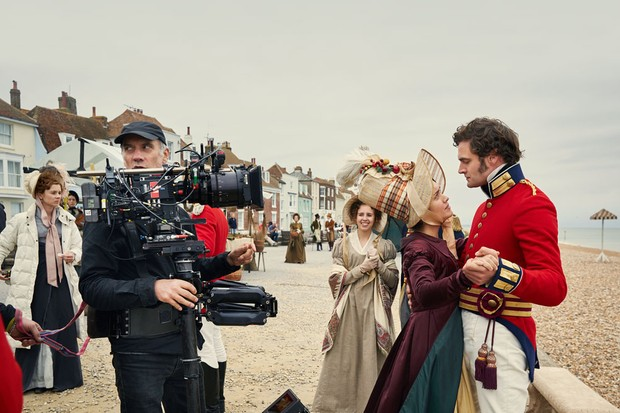 Olivia Cooke as Becky Sharp and Tom Bateman as Rawdon Crawley in ITV's Vanity Fair (ITV/RT)