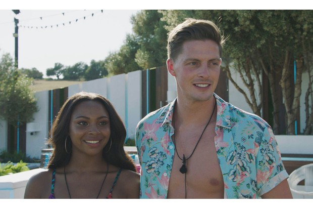 Samira Mighty and Alex George on Love Island 2018