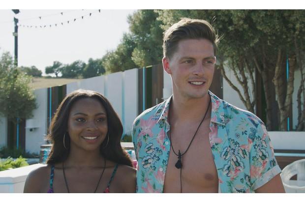 Samira Mighty and Alex George on Love Island 2018