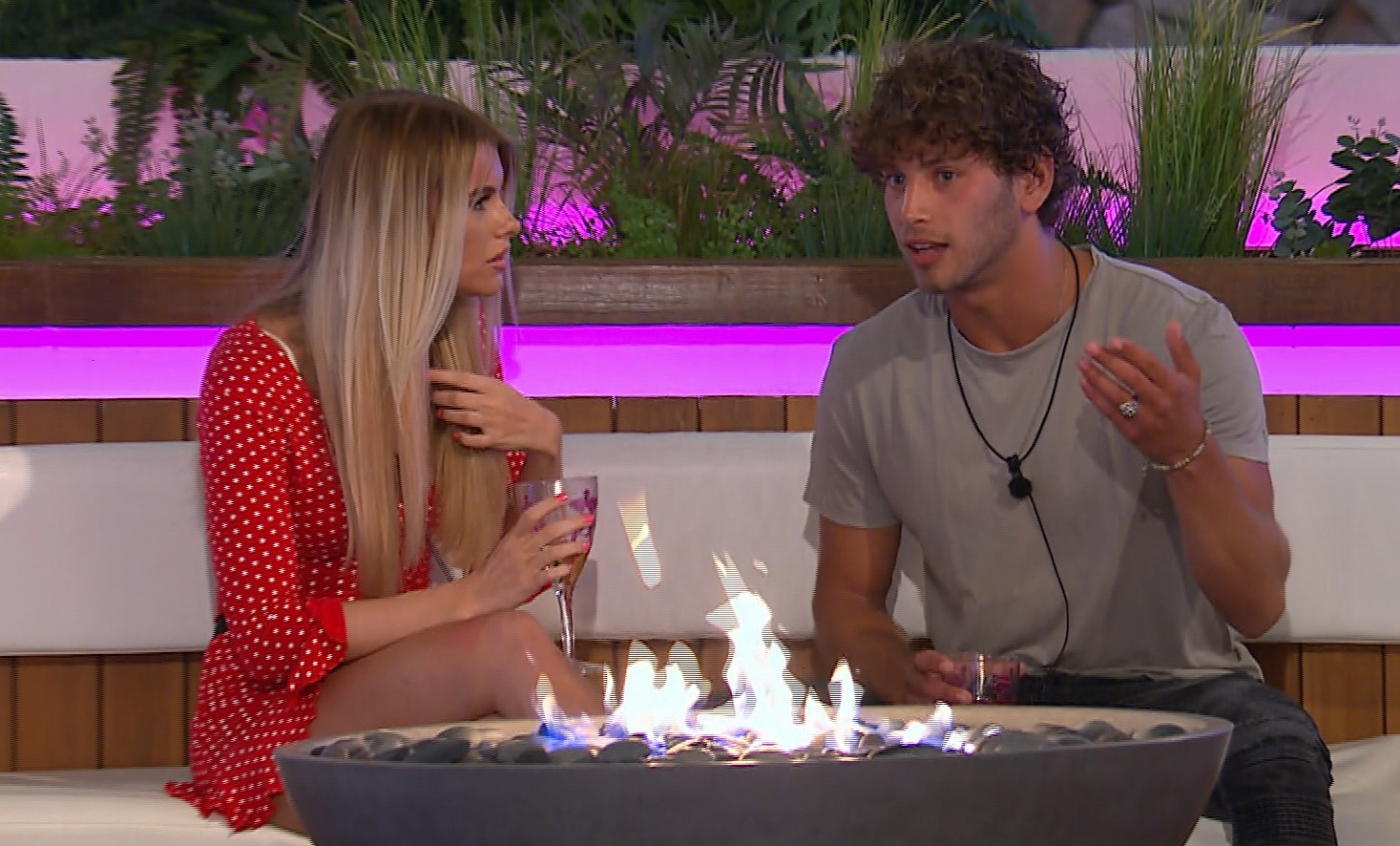 Hayley Hughes and Eyal Brooker on Love Island 2018