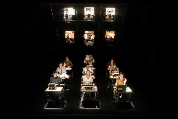 MACHINAL by Treadwell,                , Writer - Sophie Treadwell, Director - Natalie Abrahami, Set designer - Miriam Buether, The Almeida Theatre, 2018, Credit: Johan Persson/