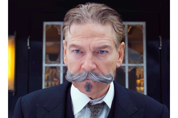 Kenneth Branagh in Murder on the Orient Express, publicly picture, BD