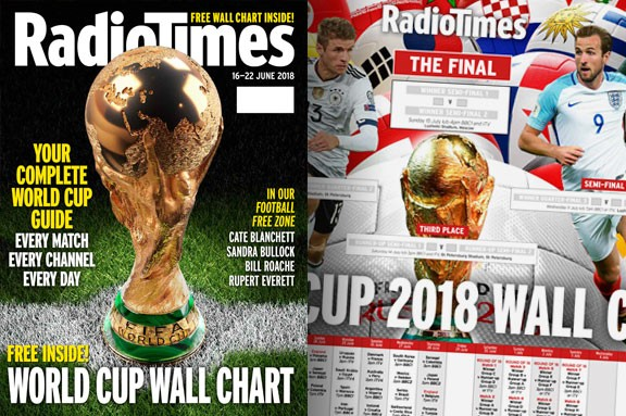 Radio Times World Cup wall chart