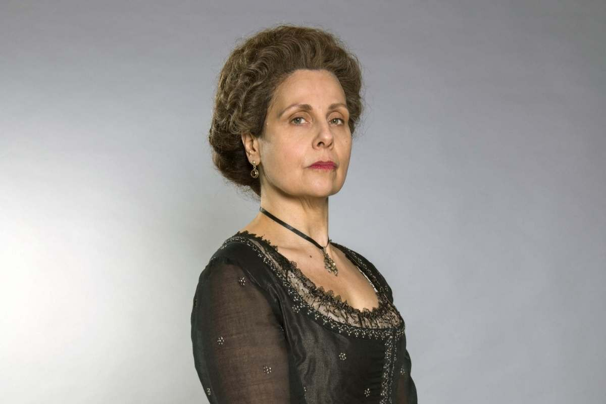 Rebecca Front as Lady Whitworth in Poldark