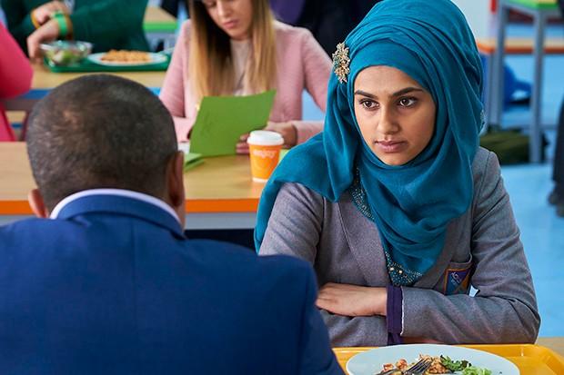 Safiyah Mardiyah plays Sadiq's daughter Aneesa Sahota in Ackley Bridge