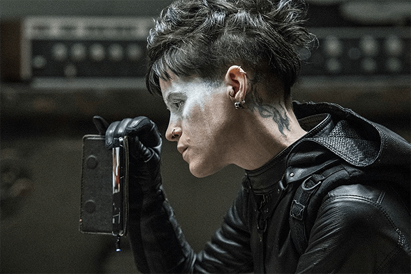 Claire Foy as Lisbeth Salander in The Girl in the Spider's Web (Sony, HF)