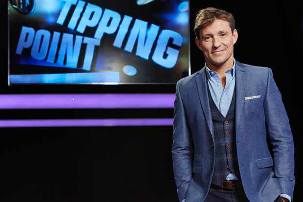 "From RDF Television   TIPPING POINT On ITV   Pictured: Presenter Ben Shephard.  Presented by Ben Shepard.. Tipping Point ""is a show centred around an extraordinary machine filled with counters worth thousands of pounds.  A game of knowledge, skill and tactics; players must answer questions to win turns on the machine. Get a question wrong and the machine won't pay out, resulting in the player with the least amount of money at the end getting eliminated.  The last player standing goes head to head with the Tipping Point machine and they'll be focussed on just one counter "" the golden jackpot disc. Again, answering questions for the right to play the machine, they'll win a big cash sum if they can make it release the jackpot counter.  © RDF Television   For further information please contact Peter Gray  0207 157 3046 peter.gray@itv.com   This photograph is (C) ITV Plc and can only be reproduced for editorial purposes directly in connection with the programme or event mentioned above, or ITV plc. Once made available by ITV plc Picture Desk, this photograph can be reproduced once only up until the transmission [TX] date and no reproduction fee will be charged. Any subsequent usage may incur a fee. This photograph must not be manipulated [excluding basic cropping] in a manner which alters the visual appearance of the person photographed deemed detrimental or inappropriate by ITV plc Picture Desk. This photograph must not be syndicated to any other company, publication or website, or permanently archived, without the express written permission of ITV Plc Picture Desk. Full Terms and conditions are available on the website www.itvpictures.com"