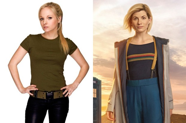 Georgia Tennant as Jenny and Jodie Whittaker as the Doctor in Doctor Who (BBC, HF)