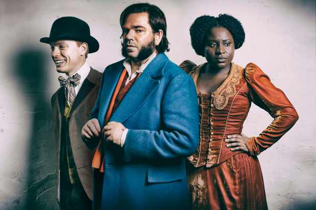 Year of the Rabbit - Matt Berry as Detective Inspector Rabbit with Freddie Fox and Susan Wokoma