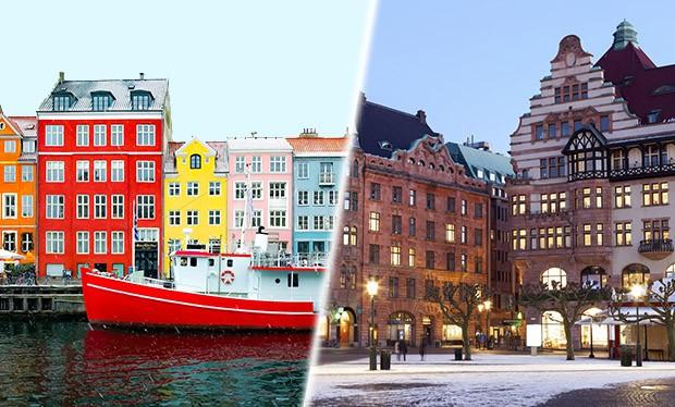 Copenhagen and Malmo