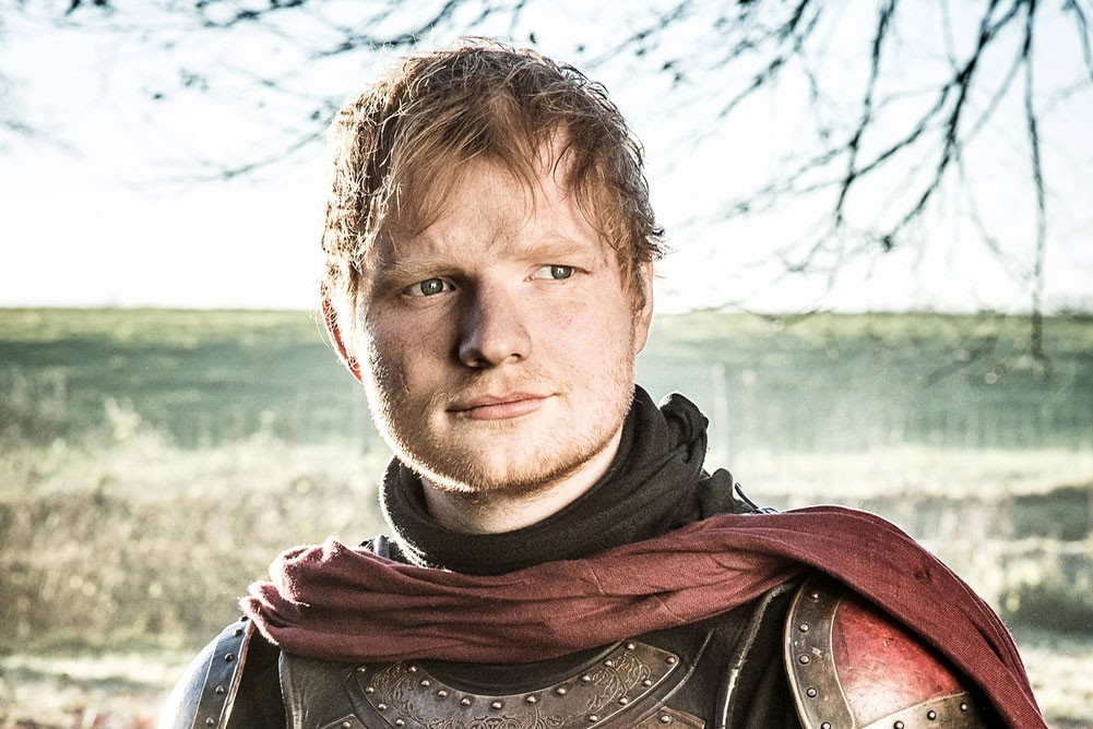 Ed Sheeran in Game of Thrones, HBO, Sky pics, TL