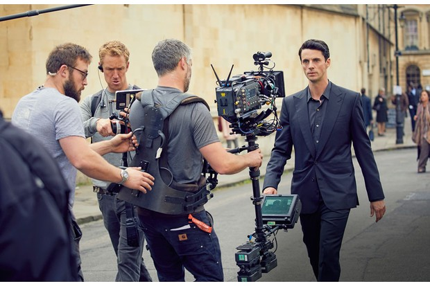 Matthew Goode filming A Discovery of Witches (Sky)