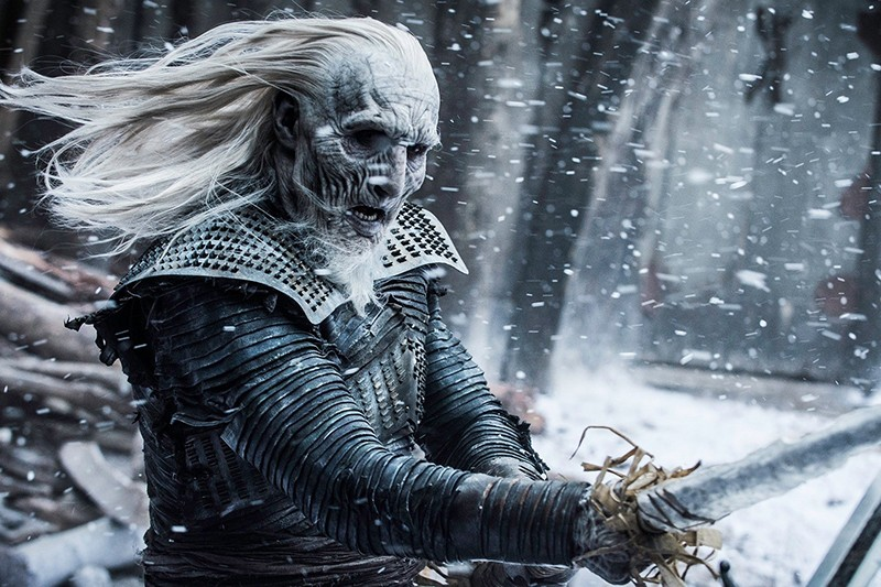 One of the White Walkers in Game of Thrones (HBO, HF)