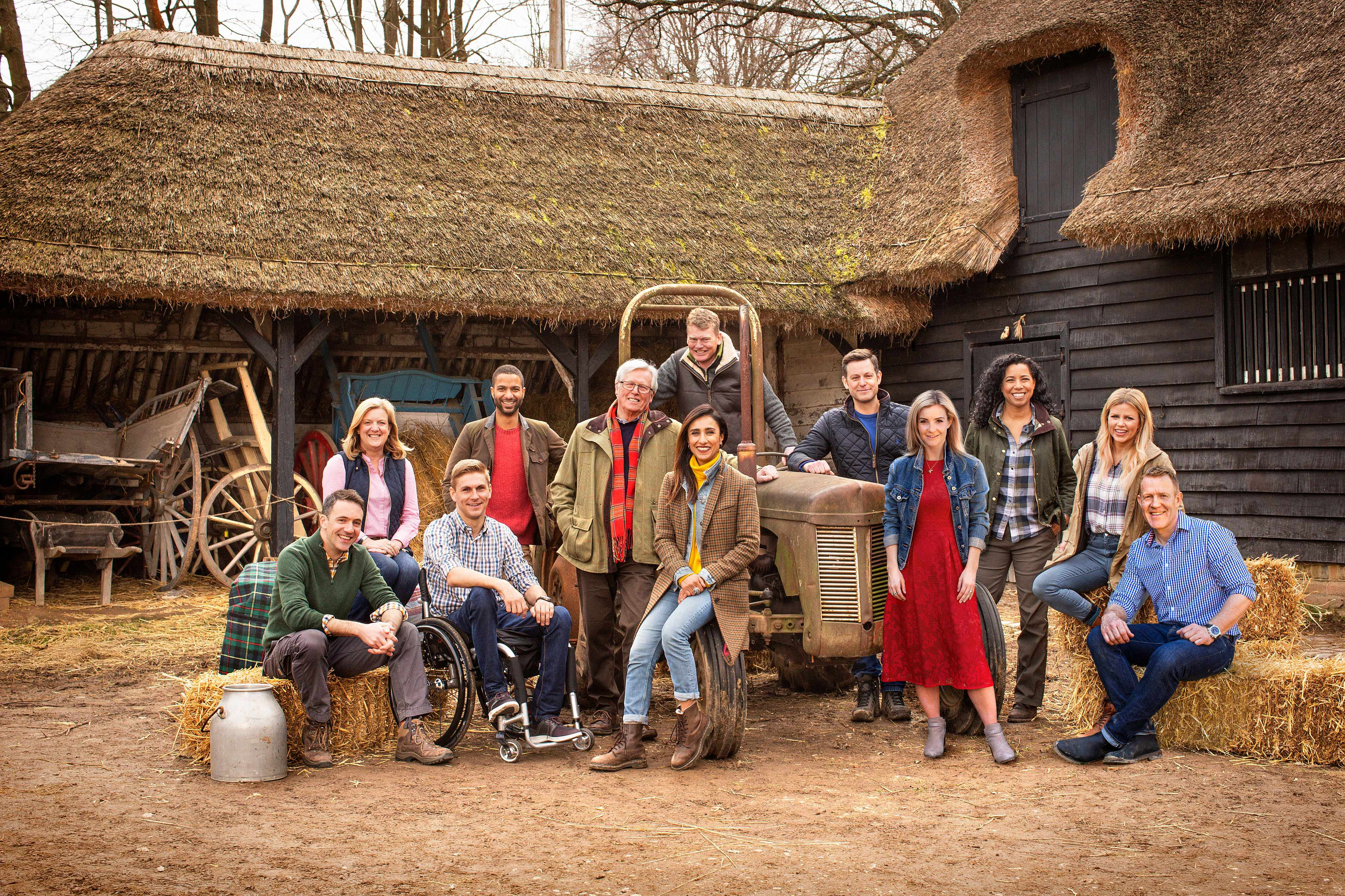 Programme Name: Countryfile - TX: n/a - Episode: n/a (No. Generics) - Picture Shows: (L-R) Joe Crowley, Charlotte Smith, Steve Brown, Sean Fletcher, John Craven, Anita Rani, Tom Heap, Matt Baker, Helen Skelton, Margherita Taylor, Ellie Harrison, Adam Henson - (C) BBC Studios - Photographer: Pete Dadds