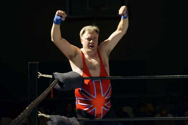 Ed Balls as 'The British Bruiser' (BBC Media, JF)