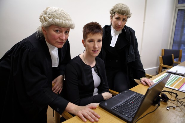 Junior Counsel for the prosecution Julie Warburton, CPS Senior Crown Prosecutor Eran Cutliffe, Leading Counsel for the prosecution Caroline Haughey (BBC)