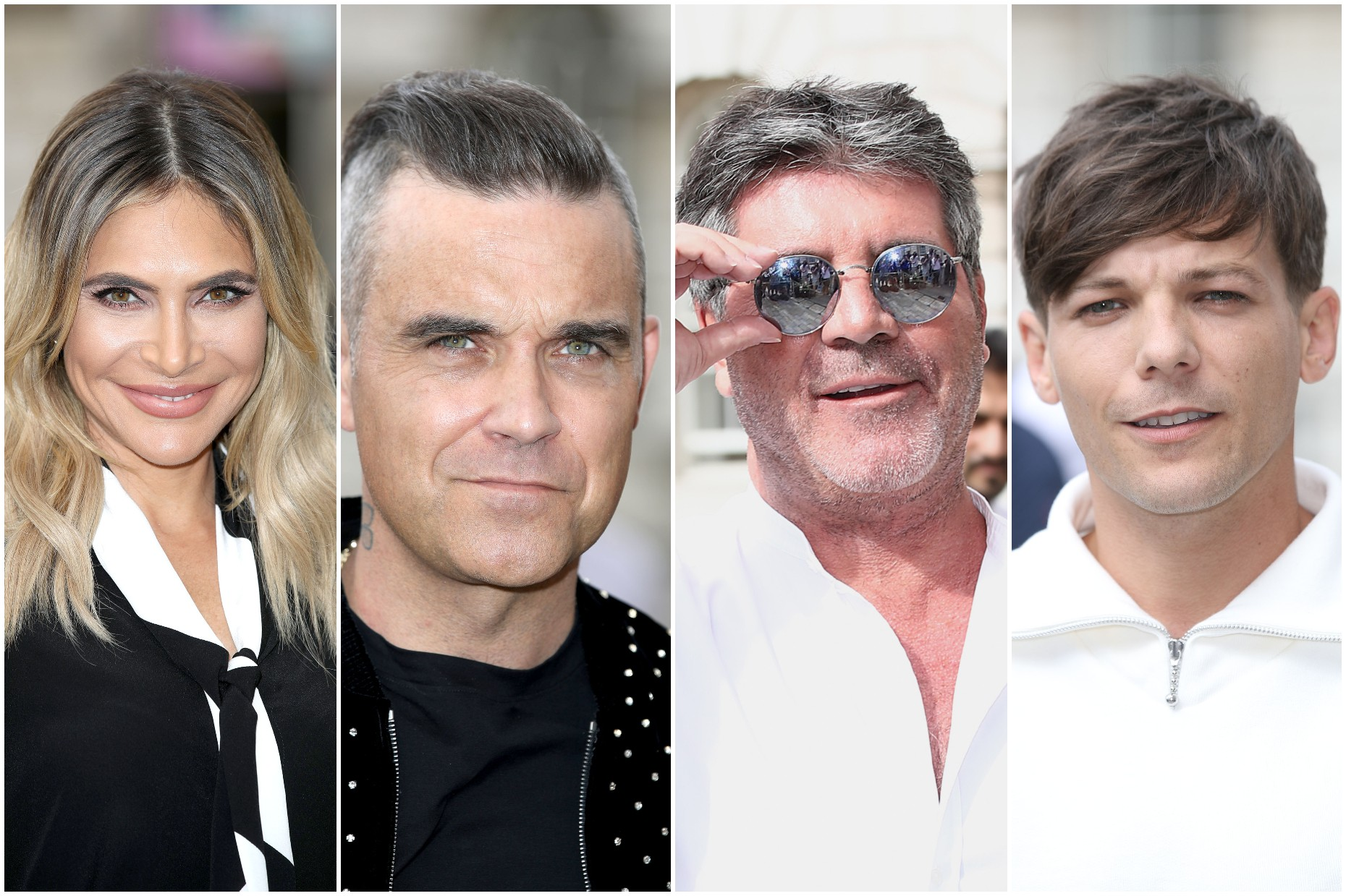 Ayda Field, Robbie Williams, Simon Cowell and Louis Tomlinson confirmed as X Factor 2018 judges by ITV (Getty)