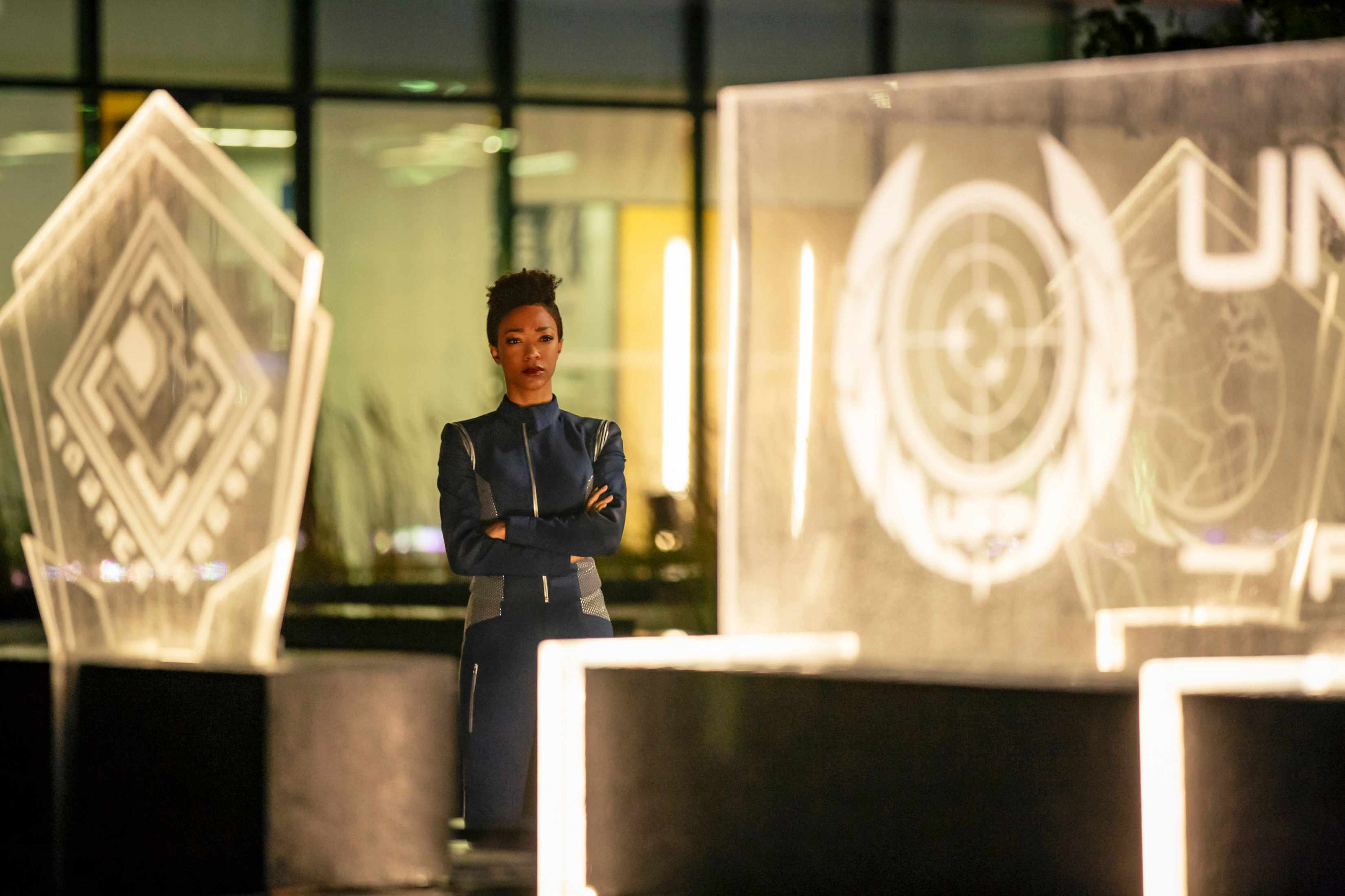 ÒWill You Take My Hand?Ó -- Episode 115 -- Pictured: Sonequa Martin-Green as Michael Burnham of the CBS All Access series STAR TREK: DISCOVERY. Photo Cr: Jan Thijs/CBS © 2017 CBS Interactive. All Rights Reserved.