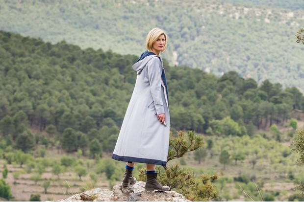 Jodie Whittaker as the Doctor in Doctor Who (BBC, HF)