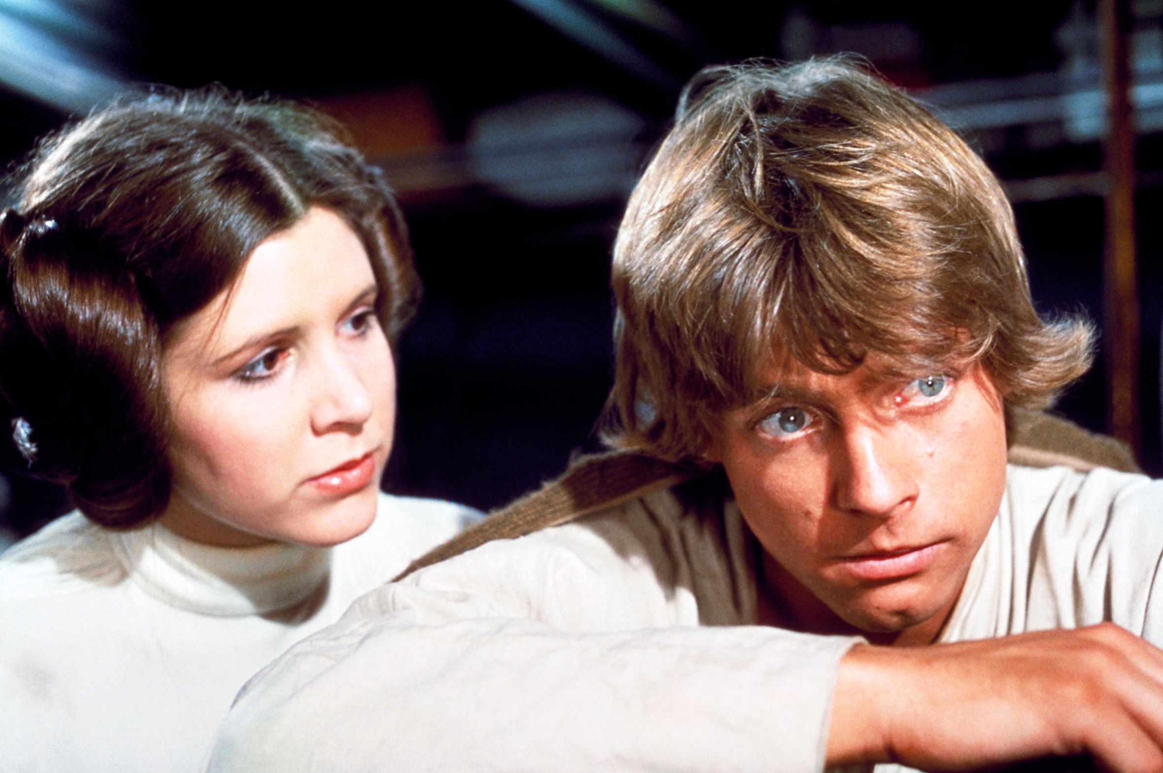 Star Wars Episode IV - A New Hope  Starring Carrie Fisher, Mark Hamill, Harrison Ford, Alec Guinness, Peter Cushing, Peter Mayhew, David Prowse Sky pics, Lucasfilm TL