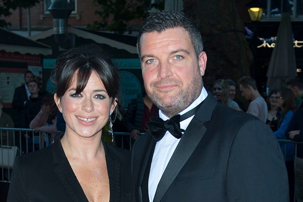 Eve Myles and Bradley Freegard, who plays her husband in Keeping Faith
