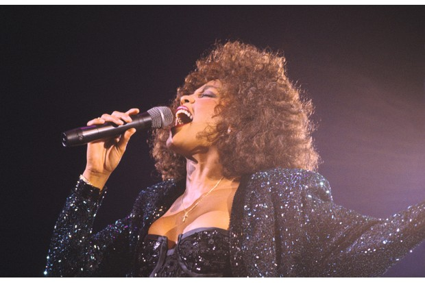 FRANCE - MAY 18: Whitney Houston Performs In Paris Bercy On May 18th, 1988 In Paris,France (Photo by Frederic REGLAIN/Gamma-Rapho via Getty Images)