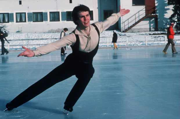 1976:  JOHN CURRY OF ENGLAND TRAINING AT THE 1976 WINTER OLYMPICS IN INSBRUCK. Mandatory Credit: Tony Duffy/ALLSPORT