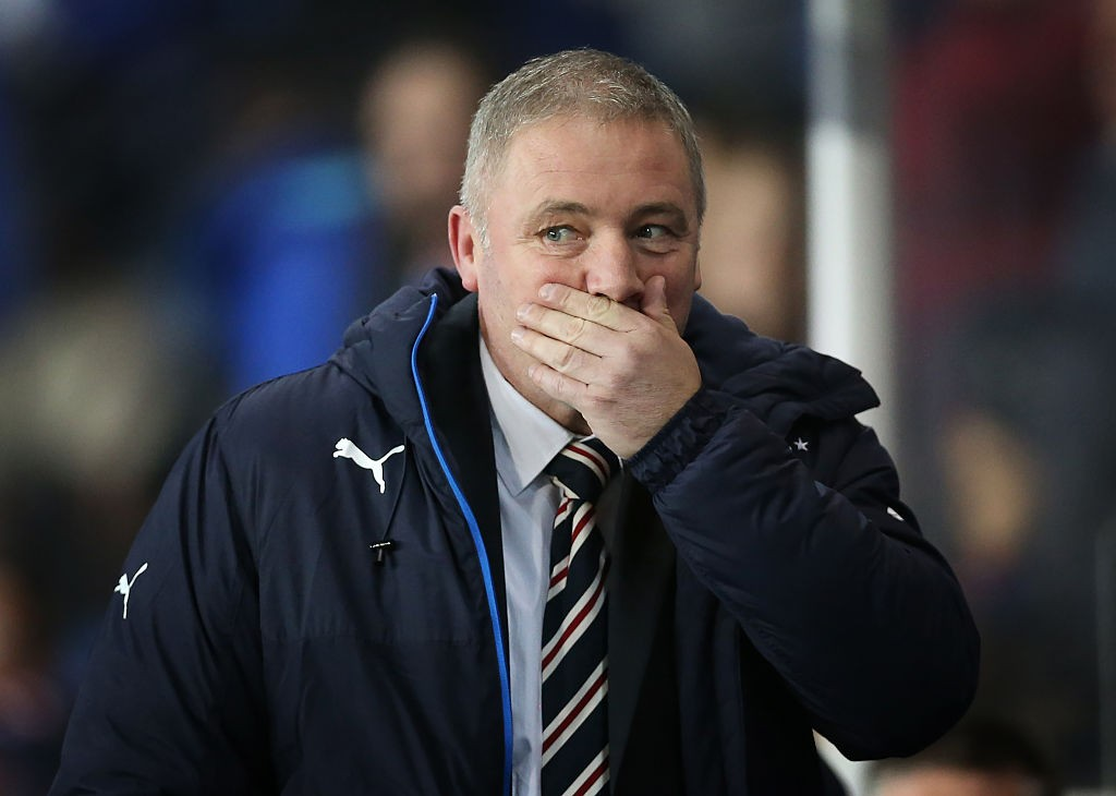 GLASGOW, SCOTLAND - OCTOBER 28:  Rangers manager Ally McCoist  looks on during the Rangers v St Johnstone - Scottish League Cup Quarter-Final at Ibrox Stadium on October 28, 2014 in Glasgow, Scotland. (Photo by Ian MacNicol/Getty Images)