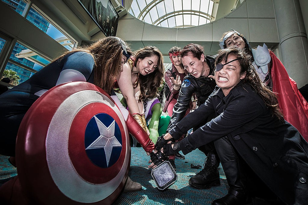 A group of costumed fans attend Comic-Con International at San Diego Convention Center on July 12, 2015 (Getty, HF)