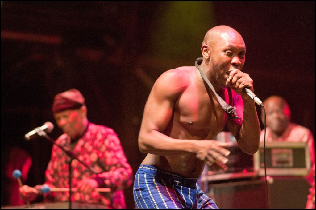 Seun Kuti and Roy Ayers playing at Womad
