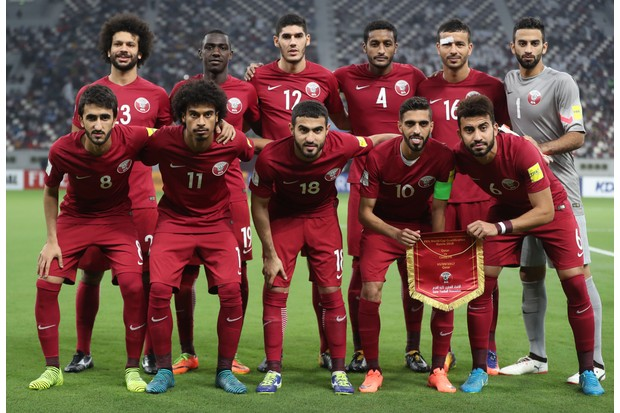 The Qatar national football team (we don't recognise any of them, either)