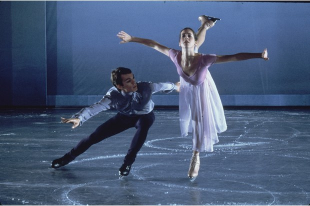 """UNITED STATES - NOVEMBER 01:  Skaters John Curry & Cathy Foulkes performing in """"Removes"""" in the ice dancing show at Felt Forum.  (Photo by Ted Thai/The LIFE Picture Collection/Getty Images)"""