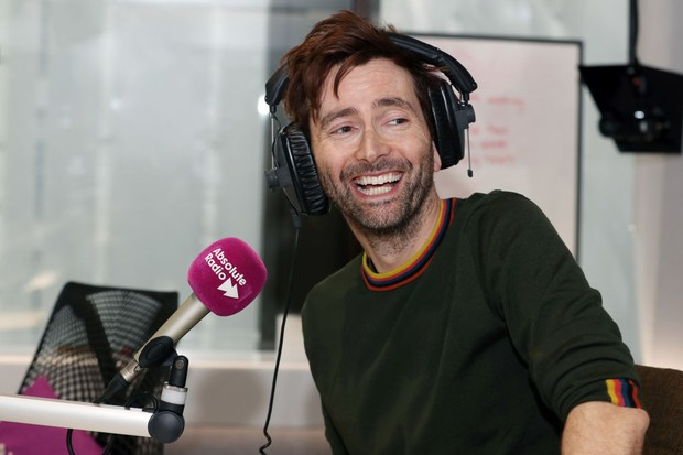 LONDON, ENGLAND - MARCH 28:  David Tennant hosts The Breakfast Show on Absolute Radio on March 28, 2018 in London, England.  (Photo by Neil Mockford/Getty Images)