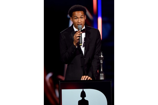 LONDON, ENGLAND - JUNE 13: Winner of the CriticsÕ Choice Award, Sheku Kanneh-Mason speaks on stage during the 2018 Classic BRIT Awards held at Royal Albert Hall on June 13, 2018 in London, England. (Photo by Dave J Hogan/Dave J Hogan/Getty Images)