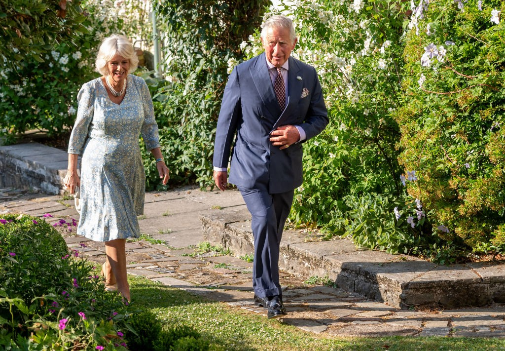 LLANDOVERY, WALES - JULY 03: Camilla, Duchess of Cornwall and Prince Charles, Prince of Wales attend an evening of music & drama at their Welsh home in Llandovery on July 3, 2018 in Llandovery, Wales. (Photo by Mark Cuthbert/UK Press via Getty Images)